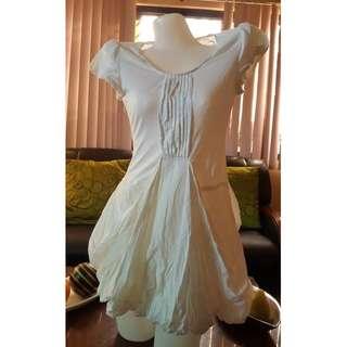 Cute Korean White mini dress