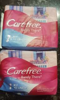 🚚 Carefree Barely There pantyliners