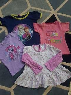 free post-4pcs baby girls tee combo-2yo+