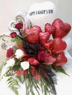 Customized Balloon and Flower Arrangement