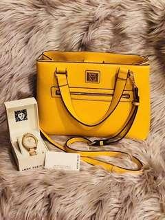 Anne klein bag and watch set