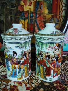 2 sets Chinese porcelain mugs