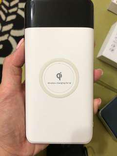 🚚 無線充行動電源10000mah 白色款