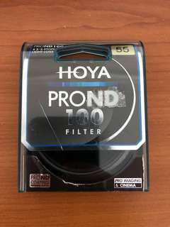 Hoya pro ND filter ND100 6 2/3 stops 55mm
