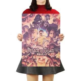 Premium Vintage Style Attack On Titan | Season 2 Poster