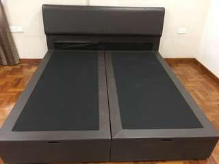 Great condition King size bed frame with under storage