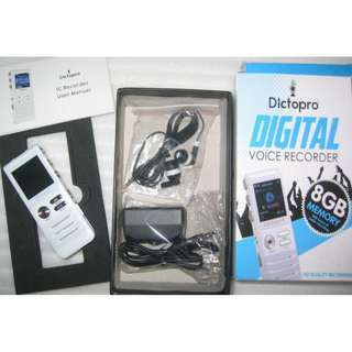 DictoPro 8GB Digital Voice Recorder
