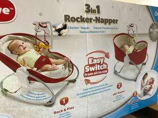Tiny Love 3 in 1 Rocker Napper Red