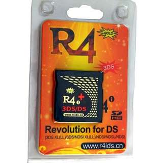 R4i Gold 3DS Plus for 3DS XL. NTRBootHax preflashed. Allows you to play DS Games