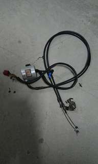 Honda shadow throttle cable + kill switch