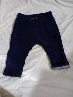 Celana bludru H&M usia 9-12bln