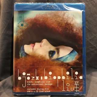 🚚 BJORK: BIOPHILIA LIVE Concert Film Blu-ray + 2 CDs UK-Import Brand New