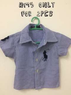 2pcs Polo Shirt (not original) 9-18 months