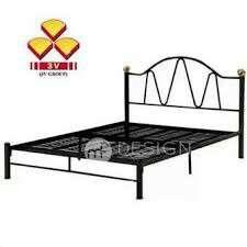 MF DESIGN 3V QUEEN SIZE METAL BED FRAME (BLACK)