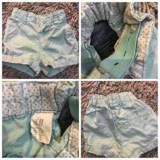 H&M girl toddler short pants