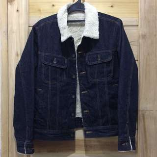 gu by Uniqlo Sherpa Blue Indigo Trucker