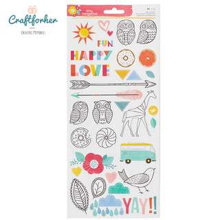 🚚 ♥Stickers♥ Colorful 62pcs Clear Stickers from Amy Tangerine for craft/scrapbooking