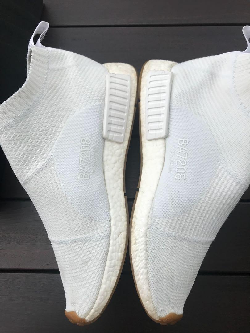 10e2b2e5a INSANE STEAL Adidas NMD City Sock white gum