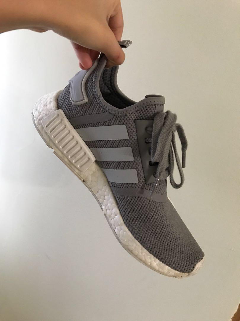 274fa336b5e90 Adidas NMD R1 Grey UK5