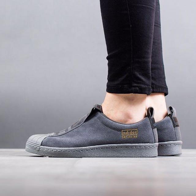 purchase cheap 5b52c 79394 Adidas Superstar Slip On - Grey Suede> CG3695, Women's ...