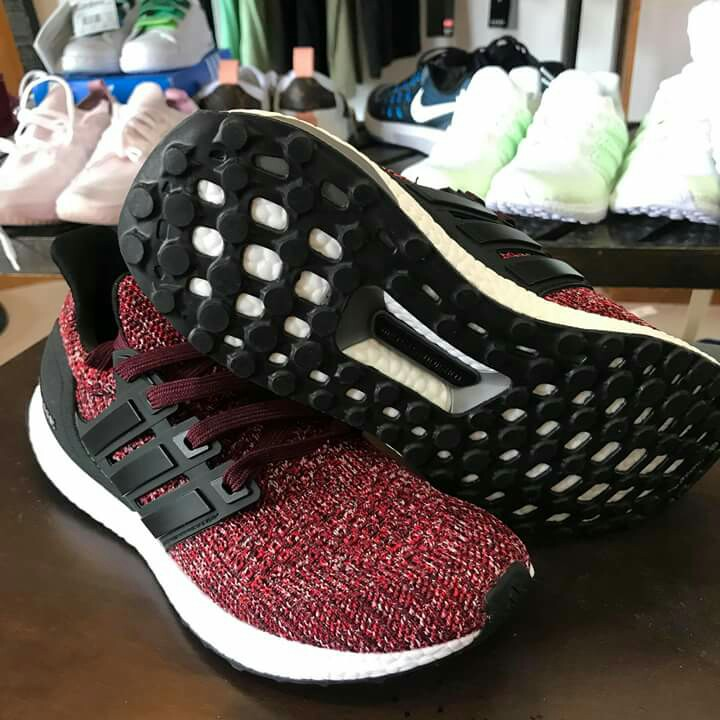 release date 9bf0f c91ee Adidas Ultraboost Maroon, Womens Fashion, Shoes on Carousell