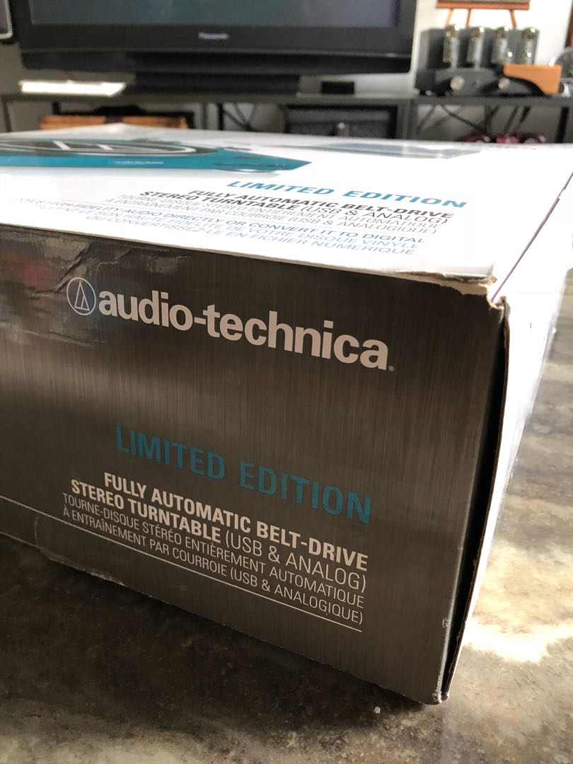 Audio Technica Turntable Fully Automatic Electronics On At Lp60 Belt Drive Stereo Share This Listing