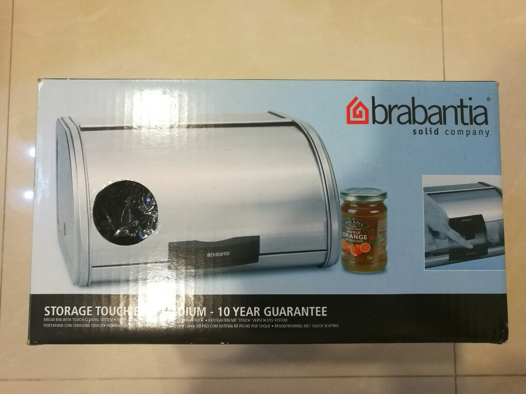 Touch Bin Sluiting.Brabantia Bread Bin Home Appliances Kitchenware On Carousell