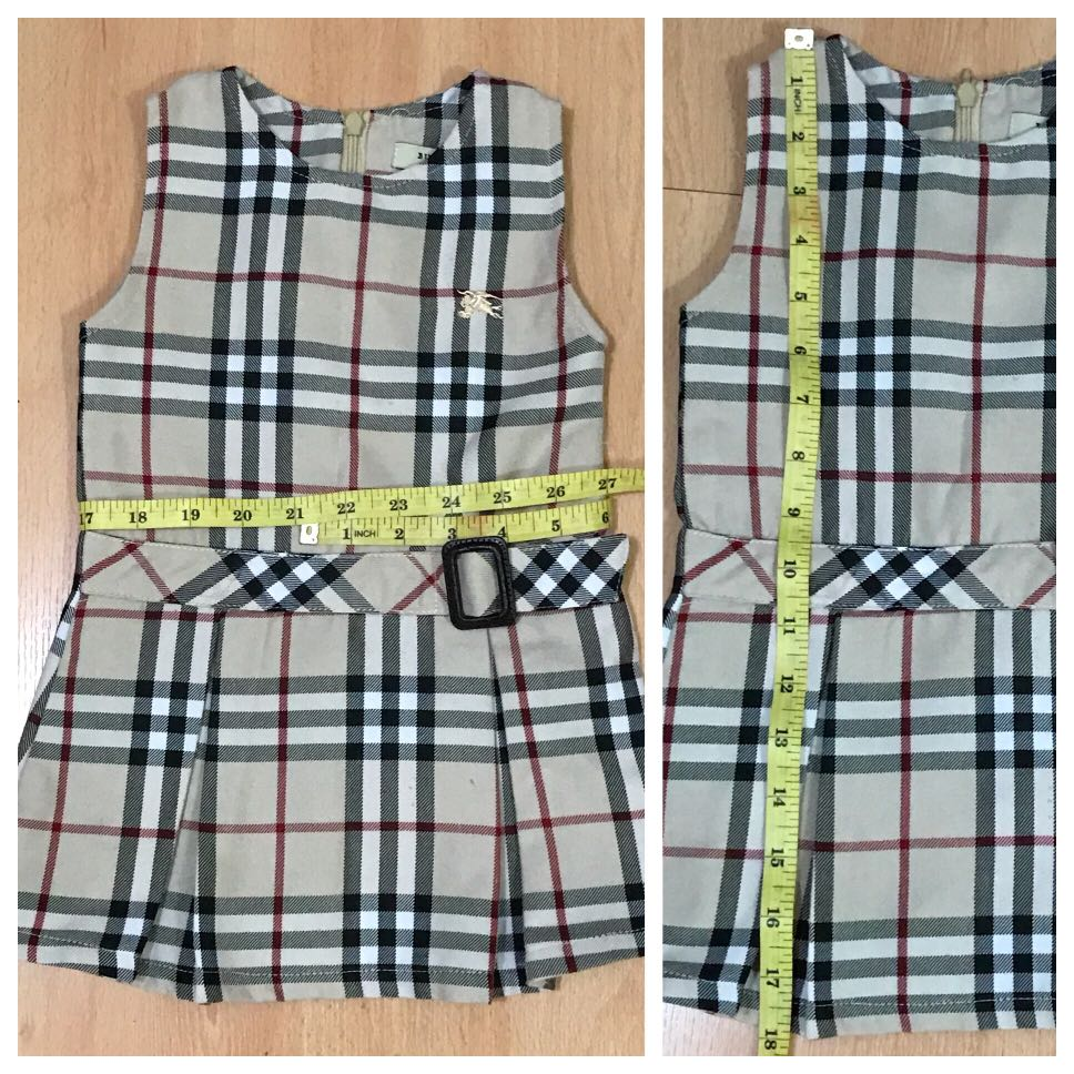 aaf573541 Burberry inspired baby dress small, Babies & Kids, Babies Apparel on  Carousell