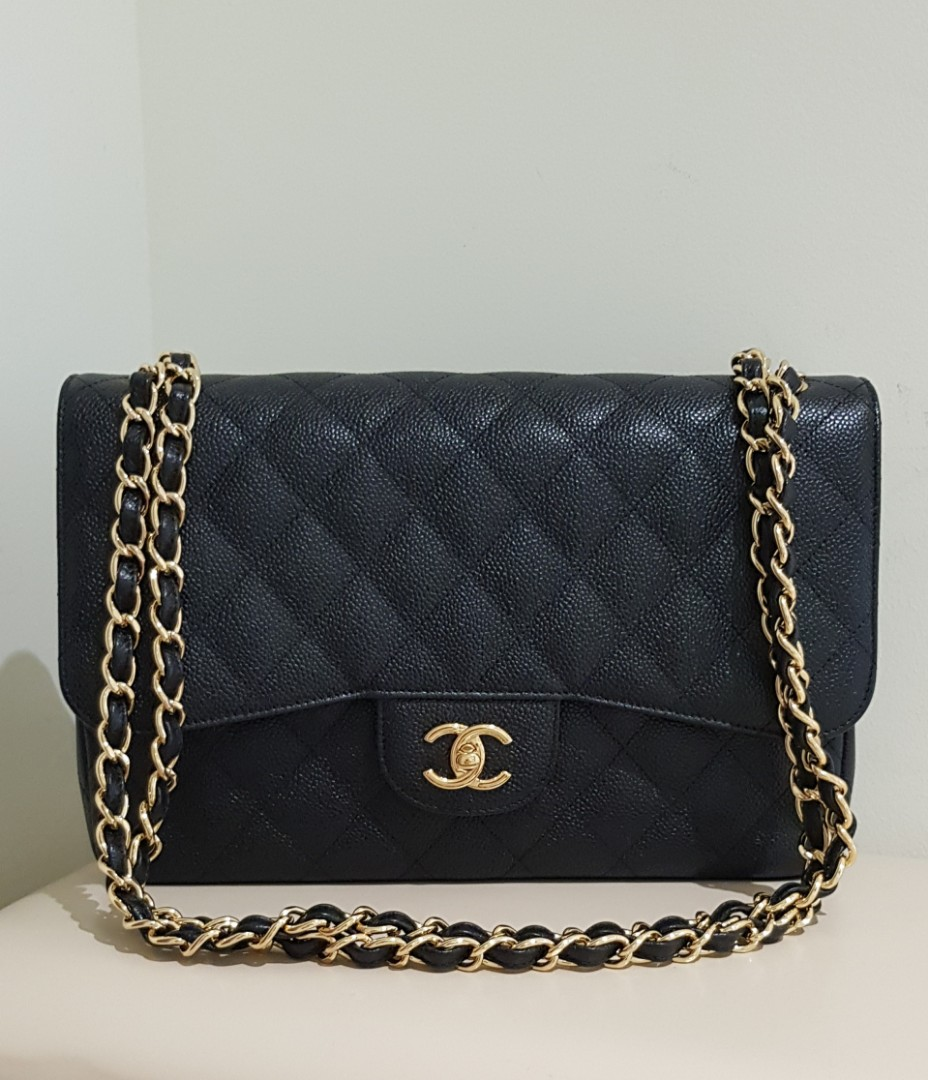 4a0f006e5afc64 Chanel classic jumbo double flap bag, Luxury, Bags & Wallets ...