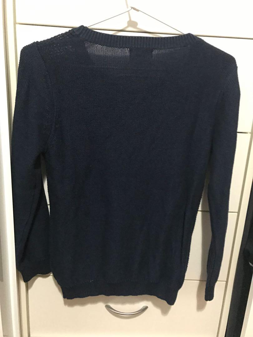 Dotti Navy Sweater S