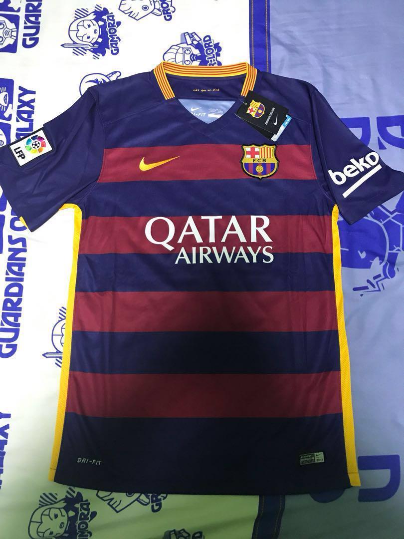 the best attitude df6f1 fbbdd FC Barcelona 15/16 Season Home Jersey, Sports, Sports ...