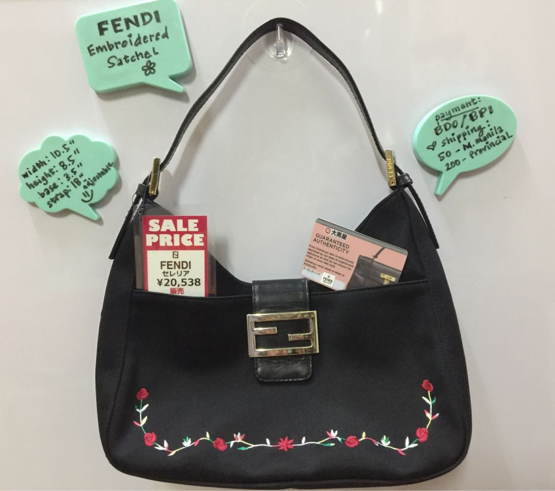62038d2e8fab ... inexpensive fendi embroidered satchel bag preloved womens fashion bags  wallets on carousell 8885a e97d4