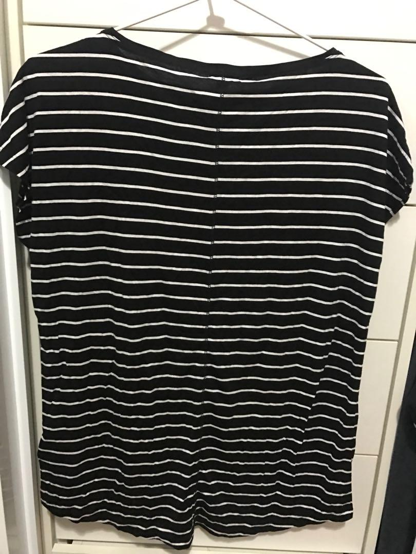 GAP Striped Oversized Tee XXS