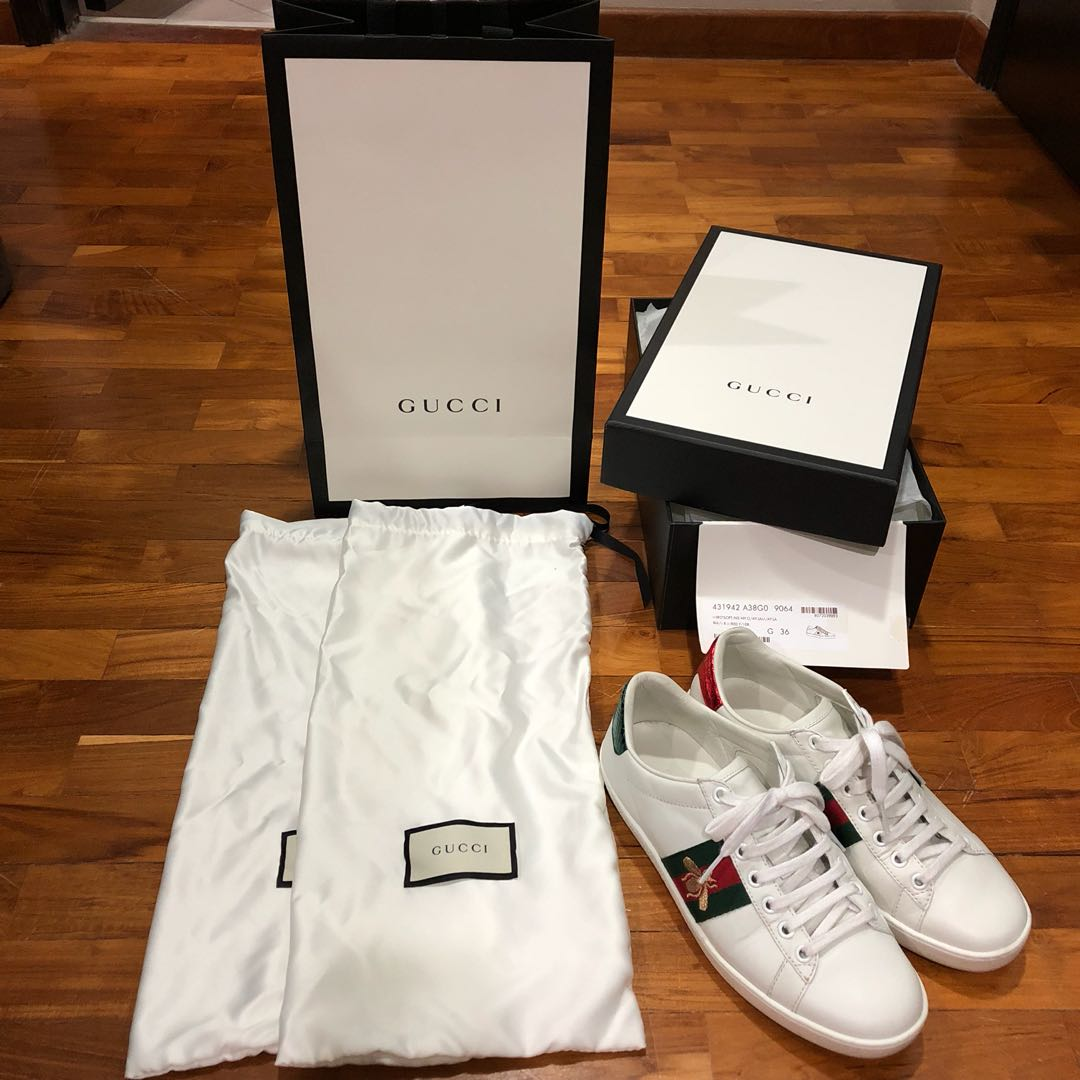 f837553d552 Gucci Ace Bee Sneakers Authentic