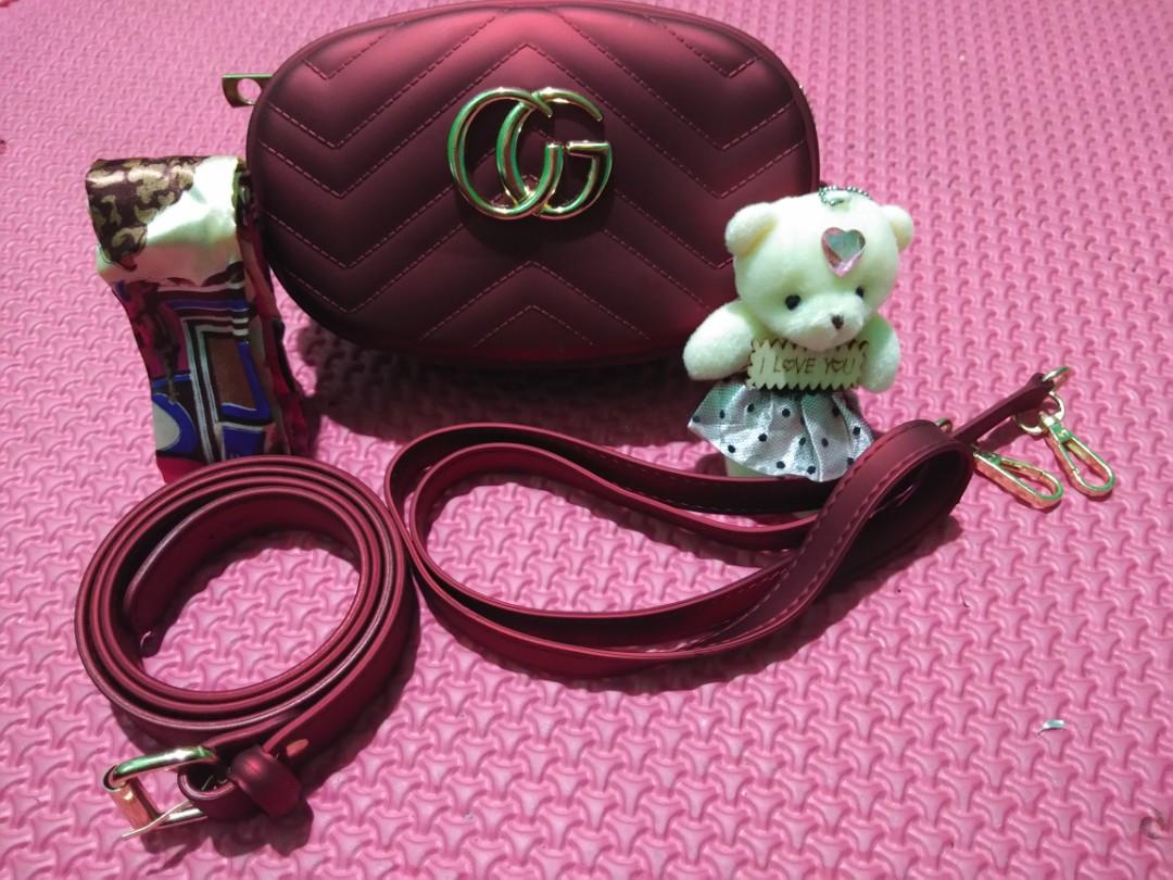 c8a903ef8b7 Tas Pinggang Gucci belt bag jelly