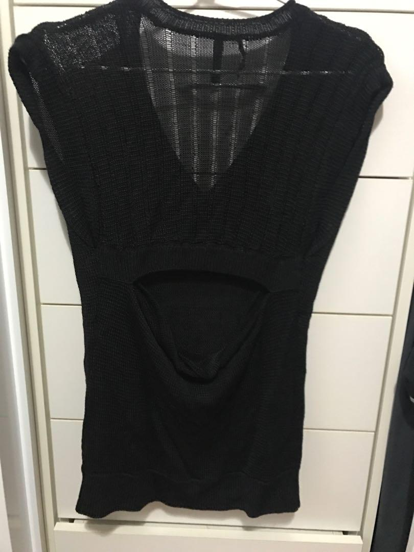 Guess Black Top with opening back