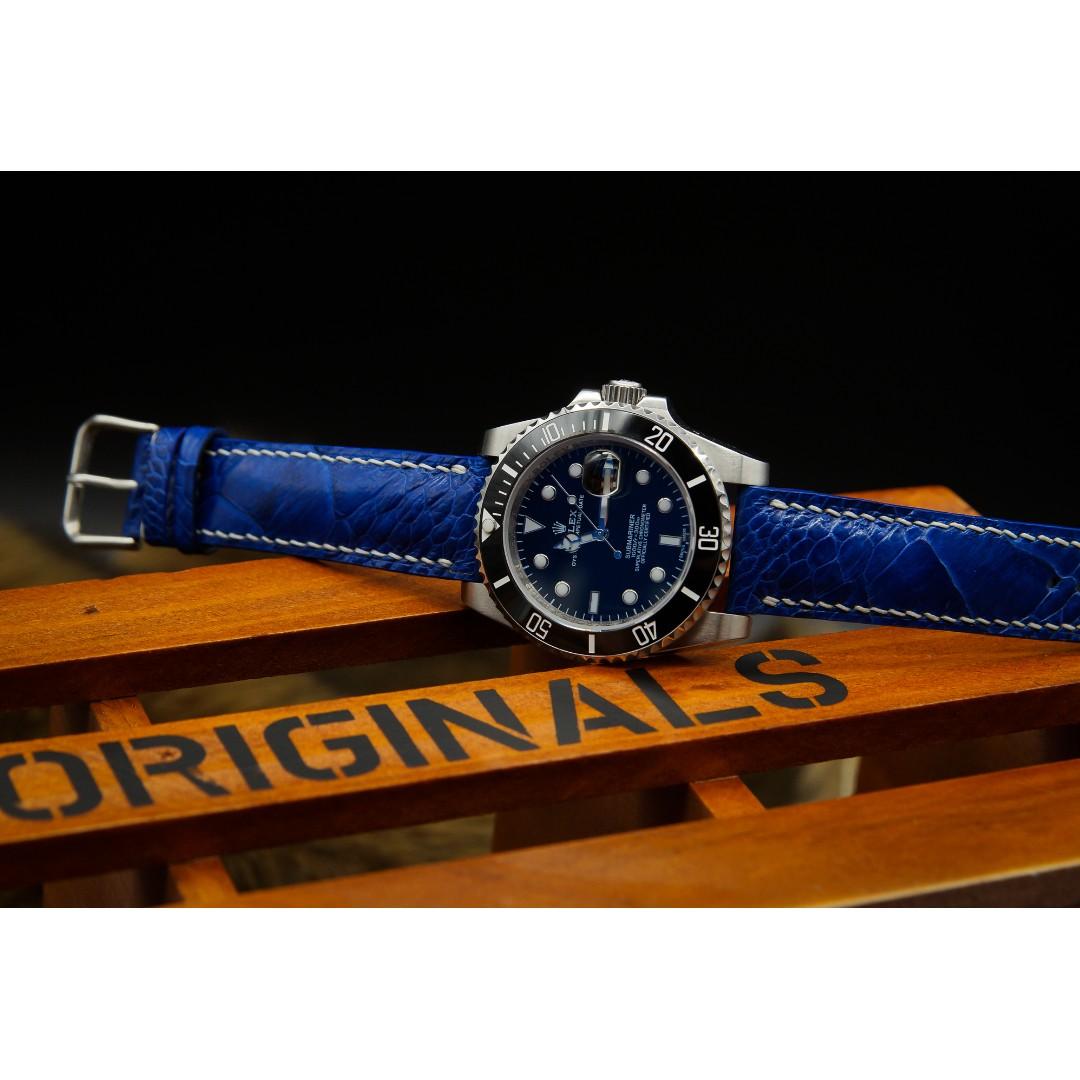 c99fdc906 Handmade Premium Blue Ostrich Watch Band For 20mm Lug Watches Ostrich Watch  Strap Watch Band 20mm Ostrich Watch Strap, Men's Fashion, Watches on  Carousell