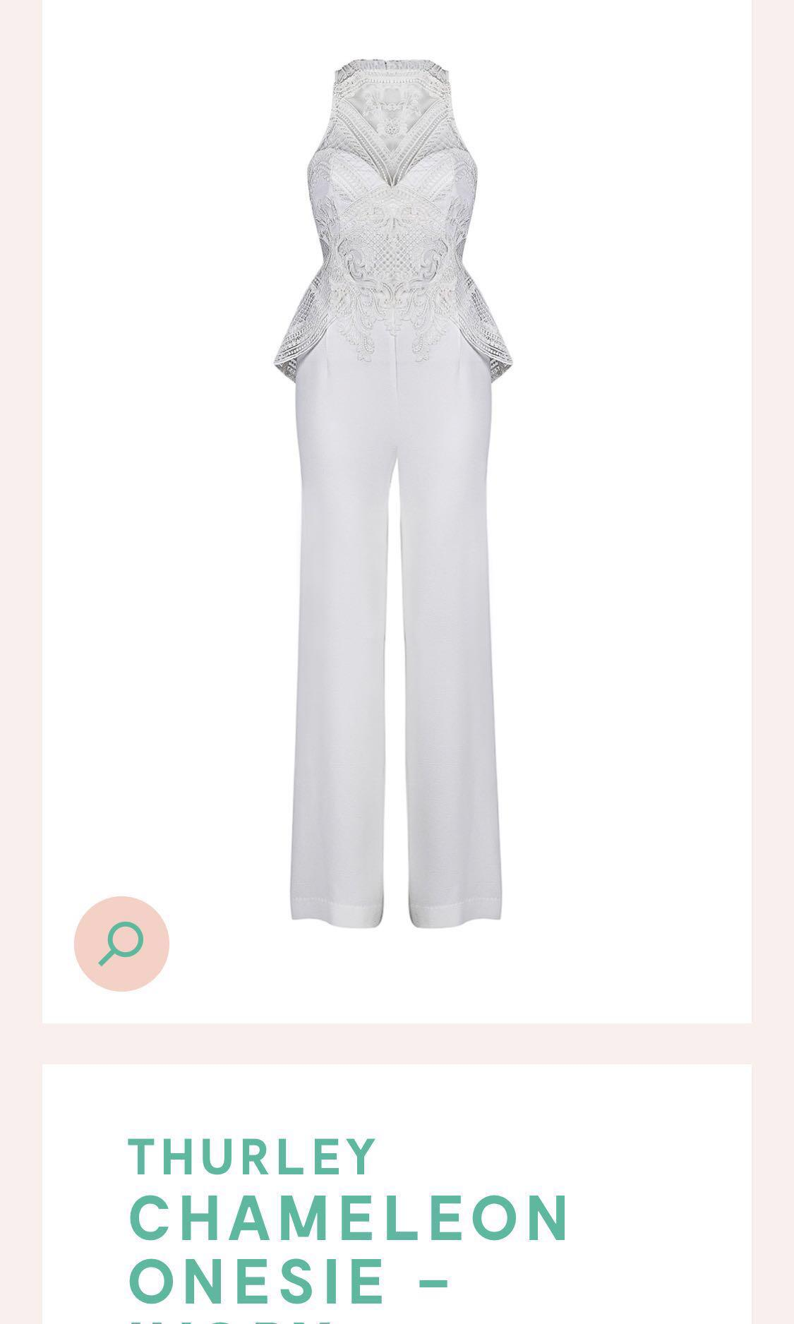 HIRING: Thurley white jumpsuit RRP $599 size 6