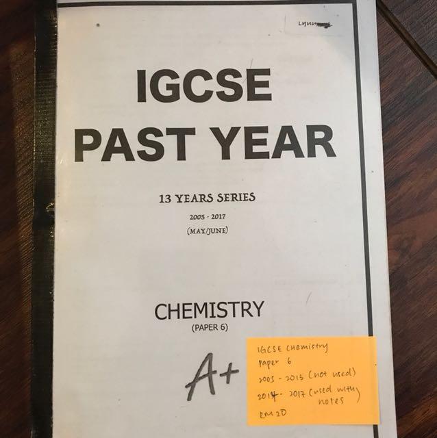 IGCSE CHEMISTRY PAPER 6 PAST PAPER