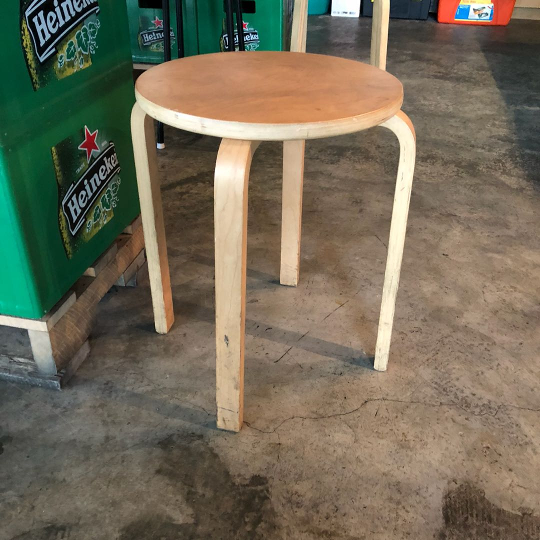Ikea Frosta Wooden Stool Furniture Tables Chairs On Carousell Black