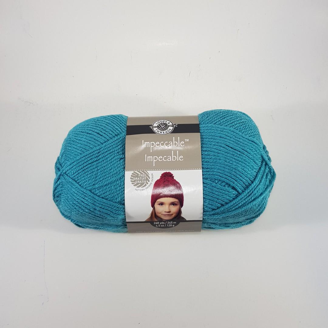 Loops & Threads Impeccable medium acrylic yarn (Aqua) on