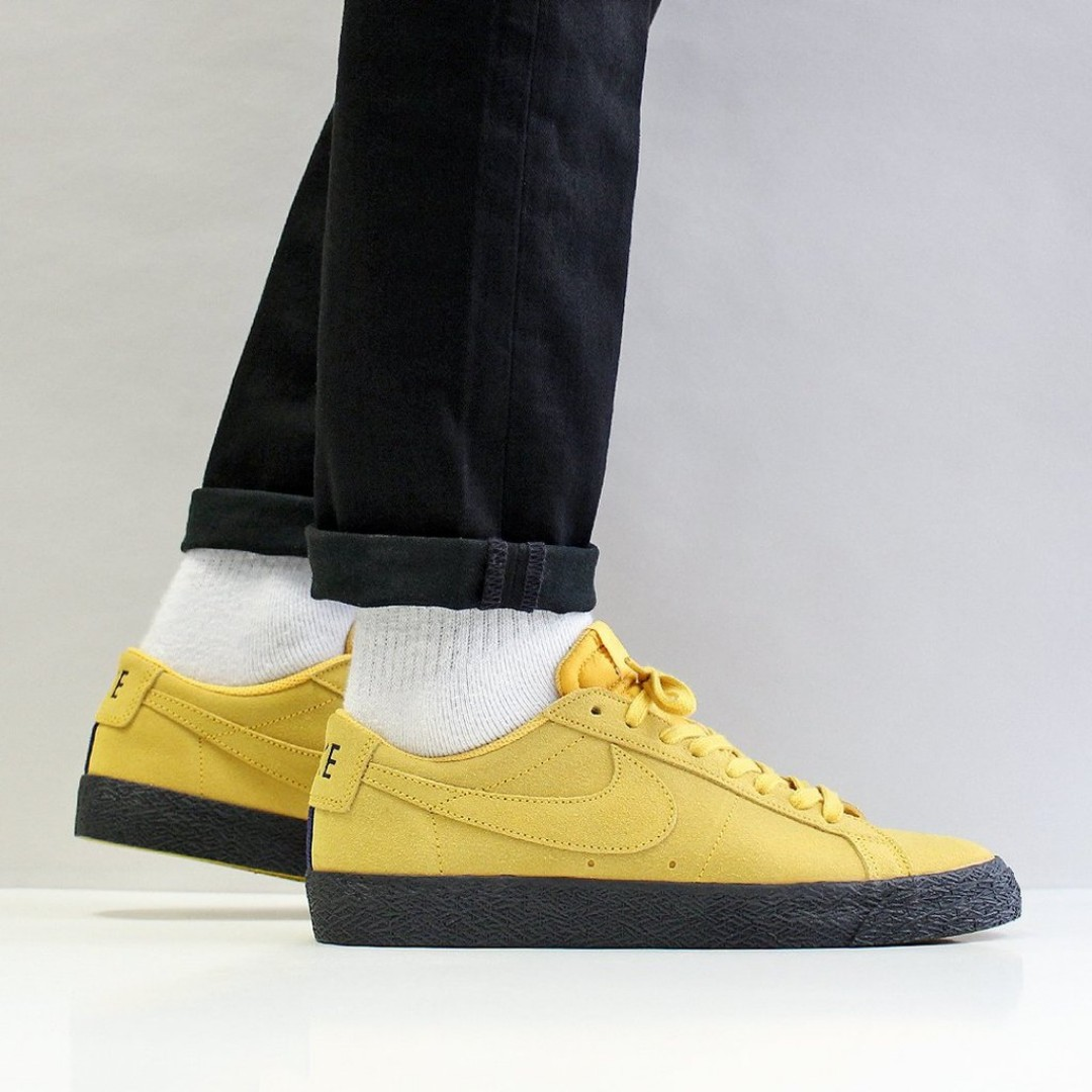 new style ca988 0ac3f NIKE SB ZOOM BLAZER LOW SHOES – YELLOW OCHRE YELLOW OCHRE BLACK, Men s  Fashion, Footwear, Sneakers on Carousell