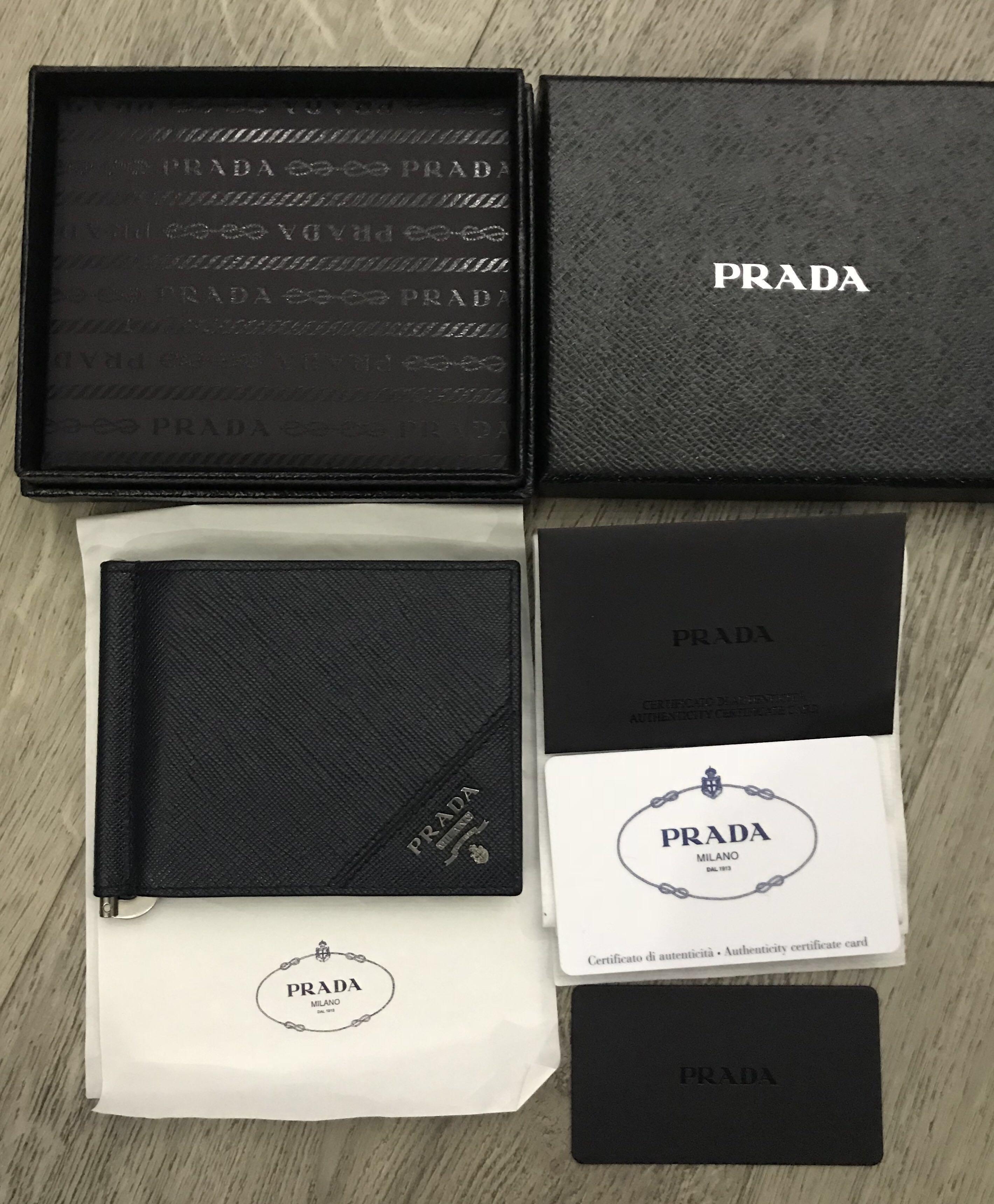 a5adfceba9dc Prada Wallet Prada money clip baltico, Luxury, Bags & Wallets ...