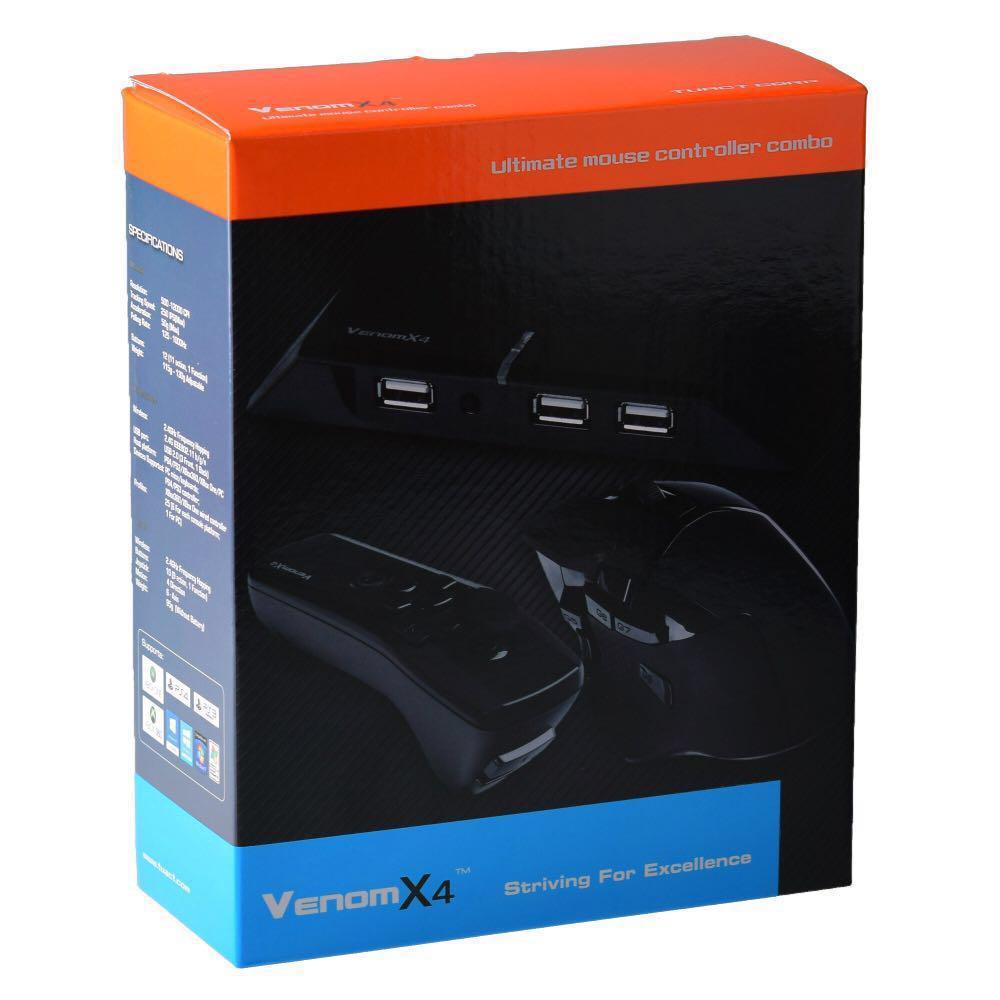 Tuact Venom-X 4 滑鼠FPS控制器鍵盤適配器Xbox  One 360 PS3 PS4 PC Windows