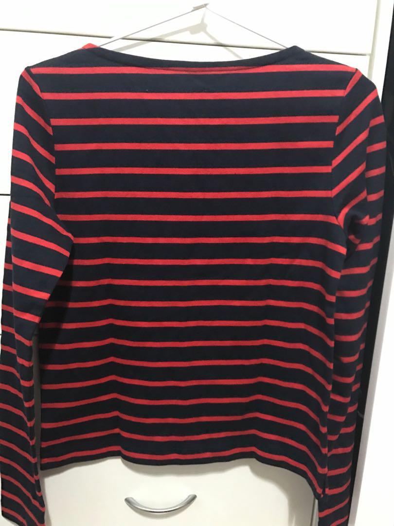 Uniqlo Striped Boat Neck XS