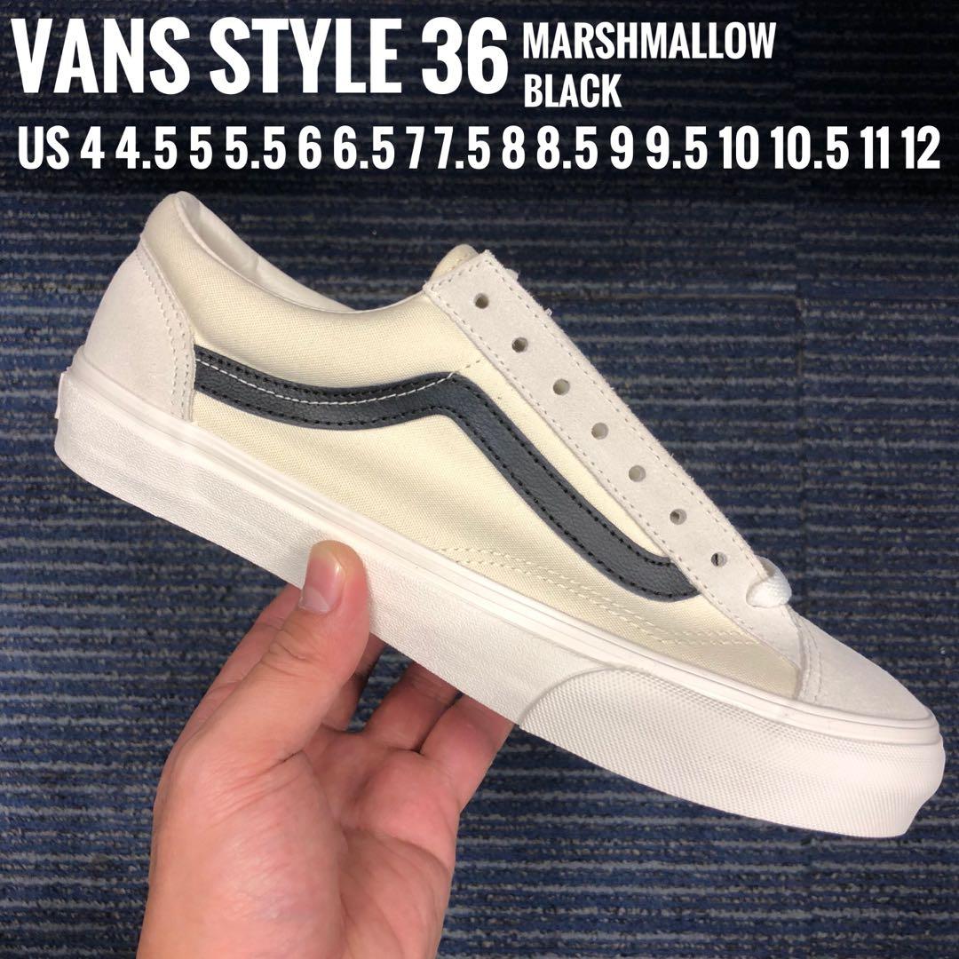 87ea1a6586 Vans Style 36 Black Mashmallow All Sizes