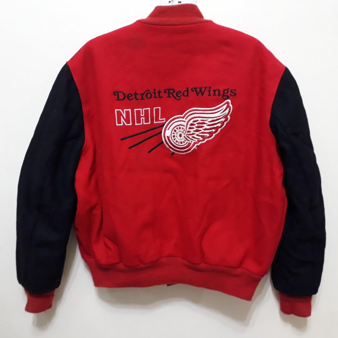 2fc05f06 VINTAGE DETROIT RED WINGS DELONG VARSITY JACKET NHL jaket, Men's ...