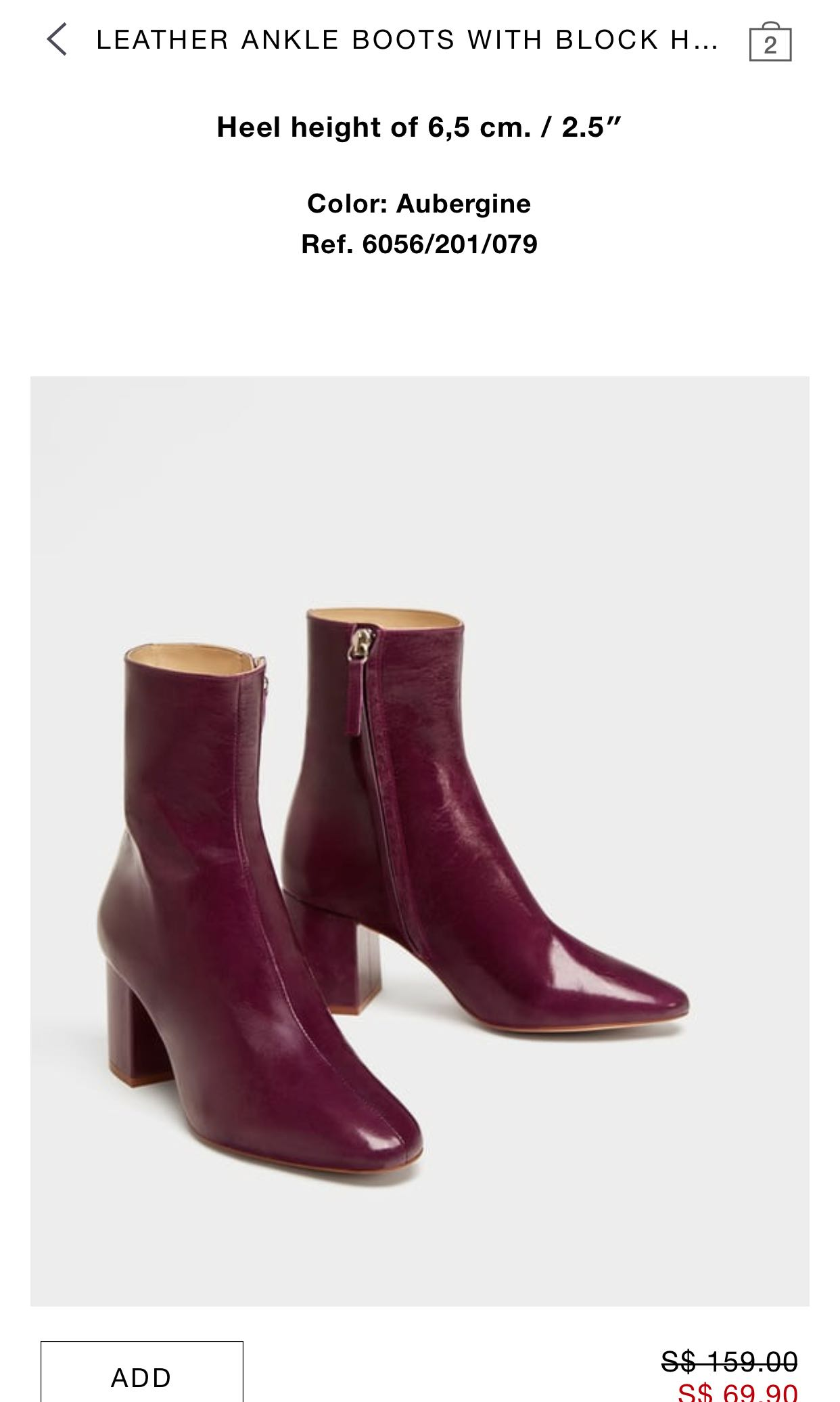 ba925b0659bc ZARA LEATHER ANKLE BOOTS WITH BLOCK HEEL