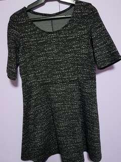 Dark gray skater dress size large to XL