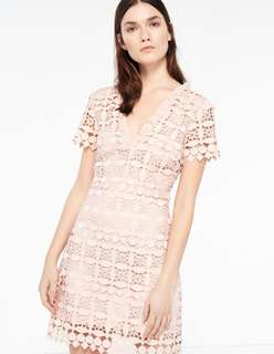 Sandro Pink Lace dress xs